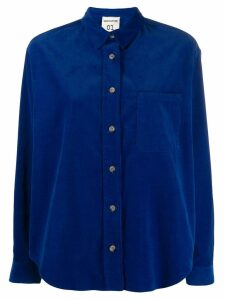 Semicouture corduroy long sleeve shirt - Blue