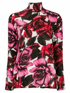 Prada sheer roses top - White