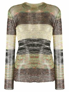 Missoni sequin embellished striped jumper - Green