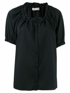 Henrik Vibskov Exhale textured button shirt - Black