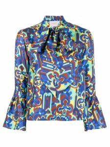 La Doublej floral print shirt - Blue