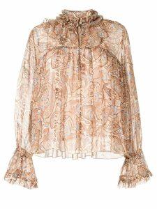 Karen Walker Romanticism blouse - Brown