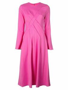 Sies Marjan cross seam midi dress - PINK