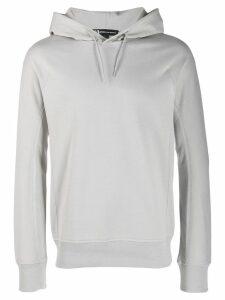 Y-3 logo printed hoodie - Grey