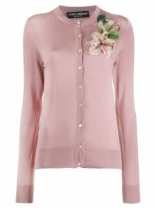 Dolce & Gabbana cardigan with flower embroidery - PINK