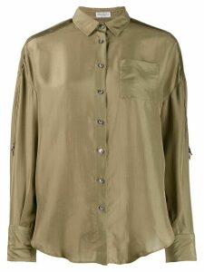 Brunello Cucinelli oversized long-sleeve blouse - Green