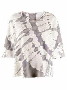 Raquel Allegra tie dye sweatshirt - NEUTRALS