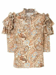 Karen Walker Lydia blouse - Brown