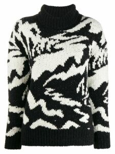 Missoni roll neck chunky knit jumper - Black