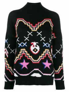Ermanno Scervino patterned jumper - Black