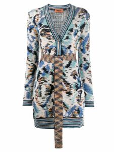 Missoni all-over pattern cardigan - Blue