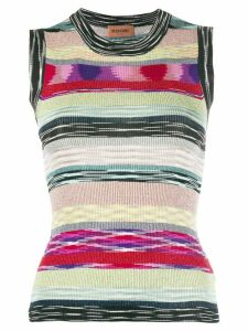 Missoni glitter stripe sleeveless top - Black
