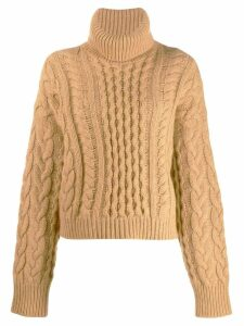 Alanui roll-neck fitted sweater - Brown