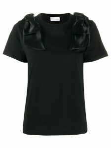 Red Valentino bow details T-shirt - Black