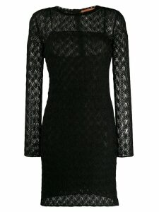 Missoni long sleeved evening dress - Black