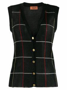 Missoni buttoned knit vest - Black