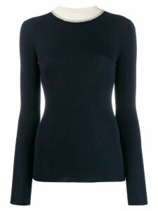 Missoni contrast collar jumper - Blue