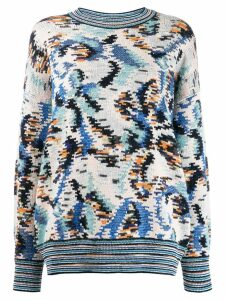 Missoni all-over pattern jumper - NEUTRALS
