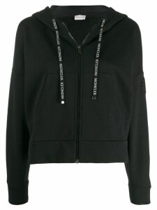 Moncler zip up hoodie - Black