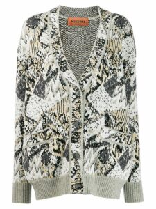 Missoni all-over pattern cardigan - Grey