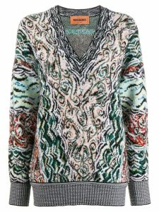 Missoni abstract pattern jumper - Black