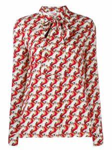 P.A.R.O.S.H. geometric print blouse - Red