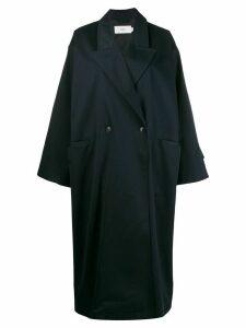Closed oversized coat - Blue