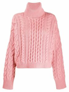 Alanui roll-neck fitted sweater - PINK