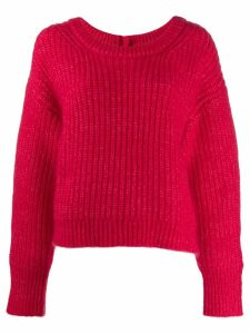 Kenzo oversized fringed jumper - Red