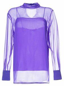 Emilio Pucci translucid silk blouse - PURPLE