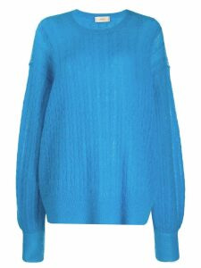 Maison Flaneur curved sweatshirt - Blue