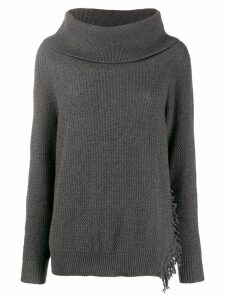 Stella McCartney oversized funnel neck jumper - Grey
