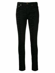 Saint Laurent zebra print jeans - Black