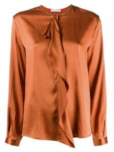 Fabiana Filippi ruffled detail blouse - ORANGE