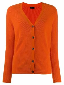 Joseph ribbed knit V-neck cardigan - ORANGE