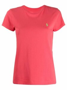 Polo Ralph Lauren logo embroidered T-shirt - Pink