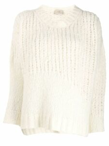 Maison Flaneur long-sleeve knitted sweater - White
