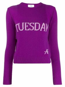 Alberta Ferretti Tuesday intarsia jumper - PURPLE