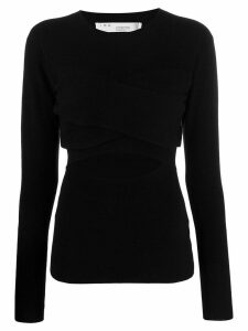 IRO Denny cut-out top - Black