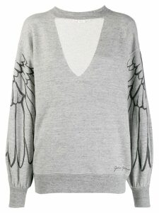 Golden Goose wings sweatshirt - Grey