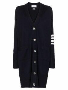 Thom Browne oversized stripe-detail cardigan - Blue