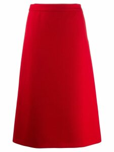 Prada mid-length A-line skirt - Red