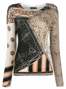 Etro patterned fine knit jumper - NEUTRALS