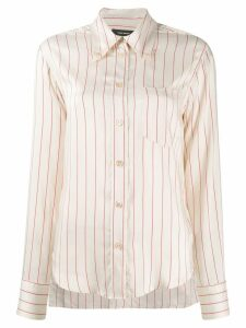 Isabel Marant striped button shirt - NEUTRALS