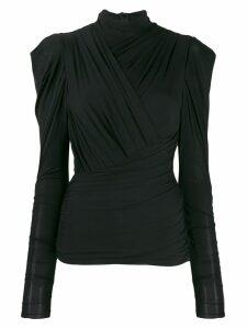 Isabel Marant ruched design blouse - Black