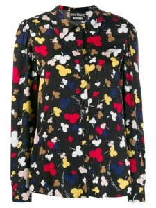 Boutique Moschino floral print shirt - Black