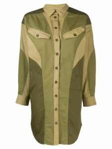 Isabel Marant Étoile oversized colour-block shirt - Green