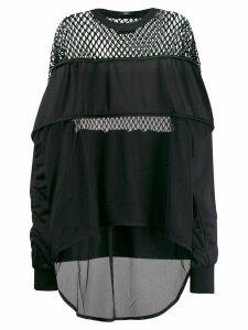 Diesel mesh panels sweatshirt - Black