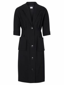 Burberry Short-sleeve Stretch Wool Dress - Black