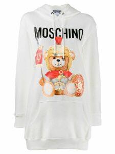 Moschino roman teddy hoodie - White